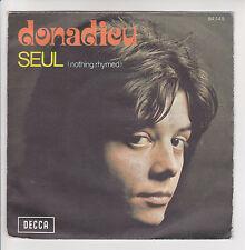 """DONADIEU Vinyl 45T 7"""" SEUL - IL PLEUT SUR WINCHESTER - DECCA 84145 F Rèduit RARE"""