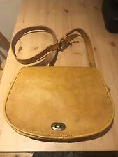 NEW - Modern Mustard Yellow Handbag / Satchel Bag - Genuine Leather