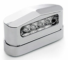 12V LED License Plate Light Metal Chrome for Trailers Lorry US Car Universal