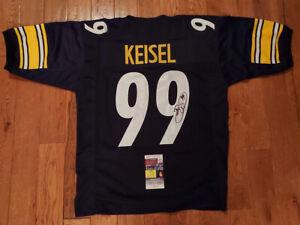 Brett Keisel Signed Steelers Custom Jersey Size XL JSA