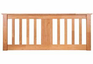 Kestrel Wooden Headboard Solid Pine In Oak Finish 4FT Small Double CLEARANCE