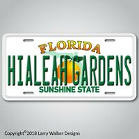 Hialeah Gardens City in Florida Aluminum License Plate Tag New