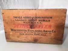 Antique Winchester Super Speed 12 Gauge 2 3/4 Ammo Wooden Box Great Color