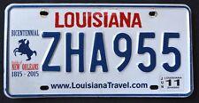 "LOUISIANA "" BATTLE of NEW ORLEANS BICENTENNIAL ZHA 955 LA Graphic License Plate"