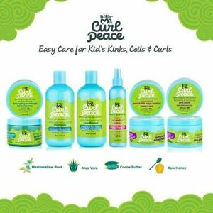 JUST FOR ME CURL PEACE KIDS HAIR CARE PRODUCTS-CURLY-FRIZZY HAIR-FREE UK POST!!!