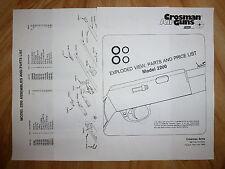 Crosman 2200 Two (2) O-Ring Seal Kits +Exploded View & Parts List + Seal  Guide
