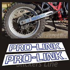 2 adesivi forcellone PRO-LINK Honda XL 600 RM 1986/90 stickers prolink xl600rm