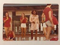 Vintage 1970s Flip Wilson As Geraldine Candid Photo Amateur Snapshot Cheerleader