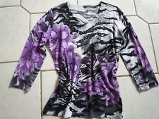 Shirt  Gr. 38 - schwarz-lila-grau !