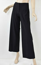 MARITHE FRANCOIS GIRBAUD Black Stretch Nylon Wide-Leg Trouser Pants 40 S 6