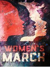 Women's March Poster Oil Paint Color 8 x 10 photograph