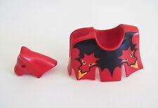 PLAYMOBIL (L5141) MOYEN-AGE - Parure Armure pour Cheval du Dragon Rouge 3319