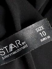 STAR by JULIEN MACDONALD BeltedSlinkyBlackFrilledVneckSize10