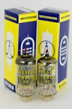 NOS 6922 E88CC TESLA RED-TIP MILITARY MATCHED PAIR TUBES AMPLITREX TEST GOLD PIN