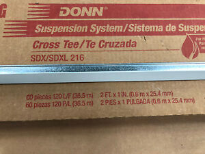 "Partial Box (29) Pieces Donn Suspension System 2' x 1"" Fire Rated Cross Tees"