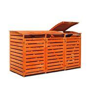 "Mülltonnenbox ""Vario III"" für 3 Tonnen, Holz, braun imprägniert"