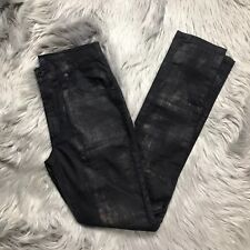 James Jeans Twiggy High Class Skinny Sorceress Size 26 Black Gold Accents Pants