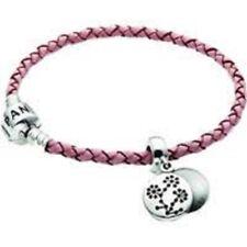 PANDORA SALE! PINK SINGLE LEATHER BREAST CANCER BRACELET RRP $118 KT0001