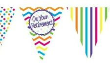 Chevron Stripe On Your Retirement Paper Flag Bunting Garland