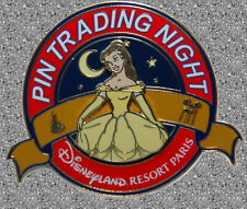 Belle Pin Trading Night Pin - DISNEY DLP LE 400 - Paris