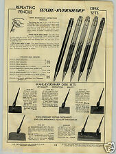 1940 PAPER AD 4 PG Wahl Eversharp Fountain Pen Pens Gift Box Oxford Norma