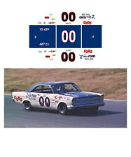 #00 A.J. FOYT 1965 FORD Galaxie 1/64 scale decal AFX Tyco Lifelike Auto World