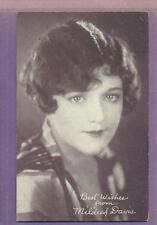1920'S EXHIBIT ARCADE CARD SILENT FILM ACTRESS MILDRED DAVIS VG+ RARE BLANK BACK