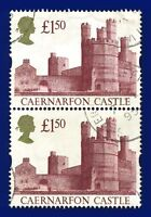 1992 SG1612 £1.50 Caernarfon Castle Pair Good Used aryr