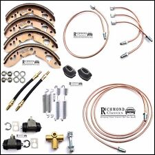 Classic Mini Rear Brake Pipe Service Kit - Flexis, Cylinders, Shoes - All Models