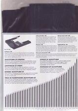 Klemmtaschen Klemmstreifen 200 gramm gemischte Streifen schwarze  Folie