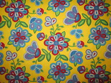 Navajo Native American Beaded Like Floral Color Yellow Print Cotton Fabric BTHY