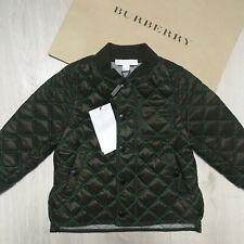 NEW BURBERRY Coat 18  months Khaki Dark Green Boys Quilted Coat 100%Genuine