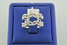 14k White Gold Ladies 1.00 CT Diamond Wrap Ring, 5.5gm, Size 7.5, S13186