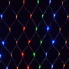 120 Solar LED Net Light Outdoor Multi Coloured Sun Powered Garden Party String