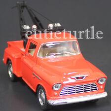 Kinsmart 1955 Chevy Stepside 3100 Pick Up Tow Truck 1:32 Diecast Toy Car Orange