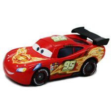 Cars 2 Lightning McQueen Neon Red with Black Spoiler Metal Toy Car 1:55 Loose