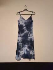 Groceries Apparel Organic Recycled Blue Tie Dye Dress w/ Adjustable Straps-Sz M