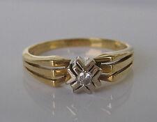 ✨0,10 ct.✨  Brillant Solitär in aus 14kt Gold Ring mit Diamant Solitaire Diamond
