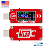 TC64 LCD Power USB Voltmeter Ammeter Voltage Current Meter TYPE C Display Tester