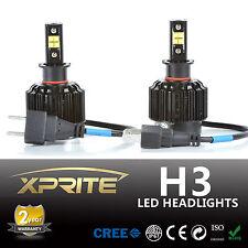 Xprite 80W LED Headlight Bulbs Halogen HID Bright Beam Lights Conversion Kit H3