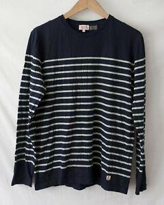 Armor Lux T Shirt Long Sleeve Sailor Breton Stripe Size M *g0725a6