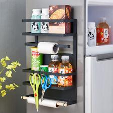Magnet 4 Ebenen Küche Kühlschrank Organiser Papiertuch Folie Klarsichtfolie Halt...
