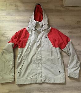 Oakley 96548 Motility Men Size Small White/Red Snowboard Ski Zip Up Jacket Coat