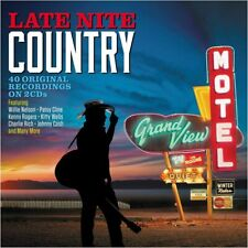 Late Nite Country 2-CD NEW SEALED 2020 Willie Nelson/Patsy Cline/Hank Snow+