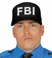 Mens Womens Adults FBI Police Baseball Cap Hat Fancy Dress Accessory