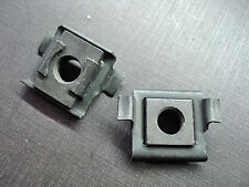2 pcs GM 5/16-18 radiator support trunk hood door frame fender cage nuts NOS