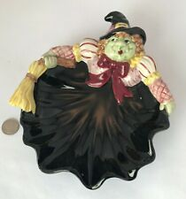 """Fitz & Floyd Halloween Hoedown Witch Candy Dish 1992 8.25"""""""