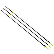 "X3 35"" Black Archery Bow Fishing Fish Hunting Arrow head with Black Torpedo Tips"