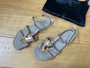 Saint Laurent Leather Women Sandals Size 36,5