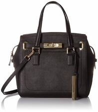 Purse Calvin Klein $278 NWT Black Saffiano Leather Satchel Crossbody Shoulder